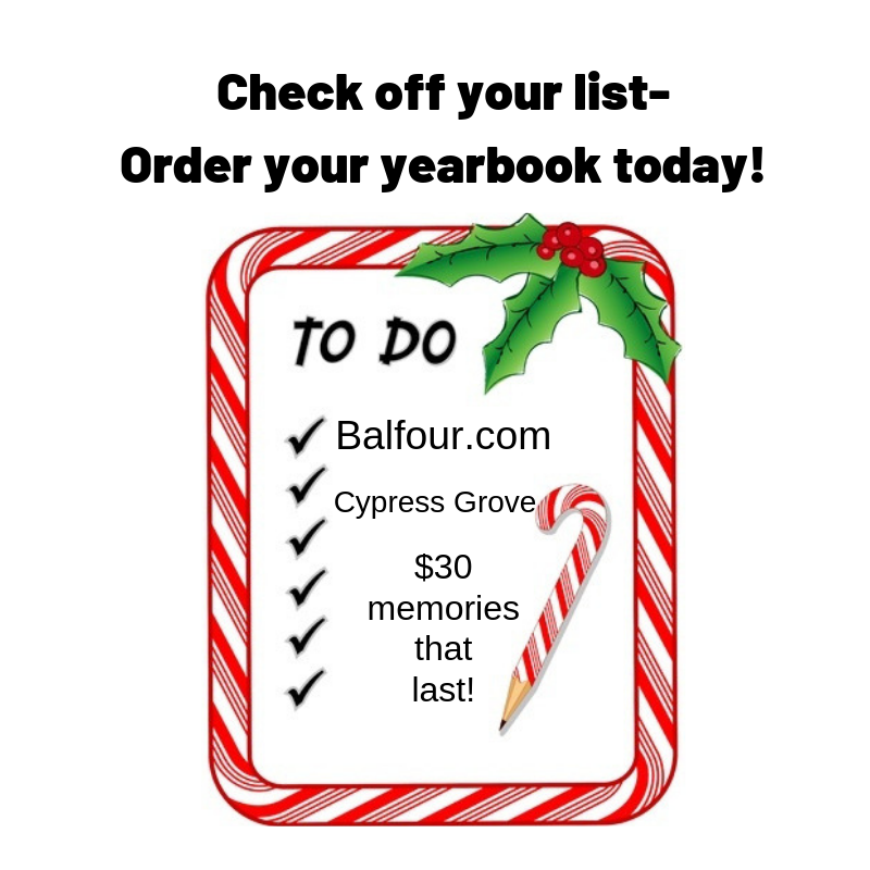 Check off your list-Order your yearbook today